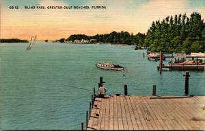 Florida St Petersburg Blind Pass Greater Gulf Beaches 1952