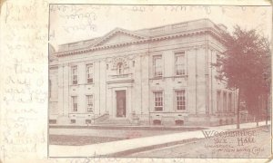 WOODBRIDGE HALL Yale University, New Haven, Connecticut 1908 Vintage Postcard