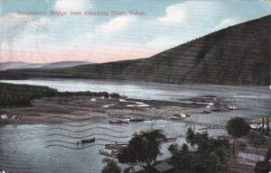 Suspension Bridge Over Klondyke River, Yukon, Canada, PU-1909
