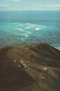 CAPE REINGA, New Zealand, 50-60s; The Tasman Sea, Cape Reinga Lighthouse