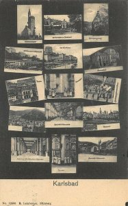 Karlsbad Baden-Württemberg Multi-Views 1912 Postcard