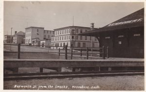 RP: KERROBERT , Saskatchewan , 00-10s Train Depot & Bosworth Street