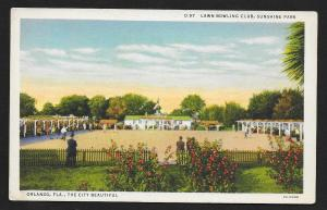 Lawn Bowling Club Sunshine Park Orlando FL Unused c1932