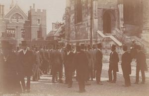 Eton College House Masters Checking Absense Student Windsor Real Photo Postcard