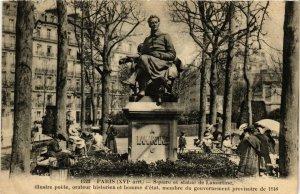 CPA PARIS 16e Square et statue de Lamartine F. Fleury (379464)