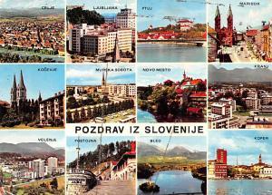 Yugoslavia Old Vintage Antique Post Card Pozdrav iz Dlovenije Celje, Ljubljan...