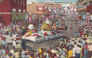 Minnesota Minneapolis Colorful Floats In Aquatennial Parade Curteich