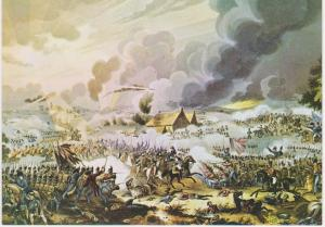 FRENCH CAVALRY CHARGE AT WATERLOO