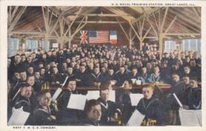 Illinois Great Lakes Navy Y M C A Concert U S Naval Training Station Curteich