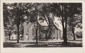 New York NY Real Photo RPPC Postcard 1941 ADDISON Presbyterian Church
