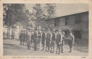 Rifle Inspection, Soldiers, Camp Jackson, Columbia, South Carolina, 1910s