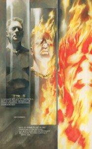 Alex Becoming The Human Torch Marvel Comic Book Postcard