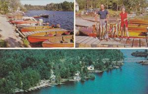 3-views, Lakair Lodge,  Monetville,  Ontario,  Canada,  40-60s