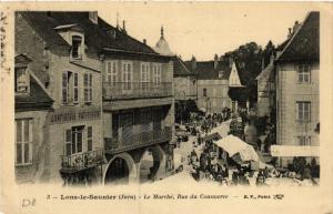 CPA AK LONS le SAUNIER Le Marché - Rue du Commerce (447336)