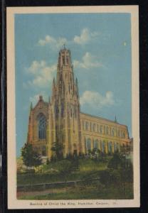 Hamilton Ontario Peco colour PC Christ the King Basilica unused