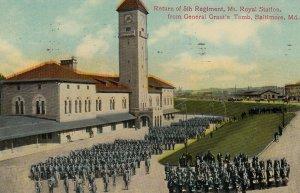 BALTIMORE , Maryland , PU-1911; Return of 5th Regiment, Mt. Royal Station