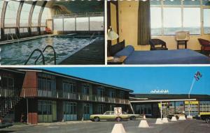 3-Views, Hotel Motel La Caravelle, La Salle, BAIE COMEAU, Quebec, Canada, 40-60s