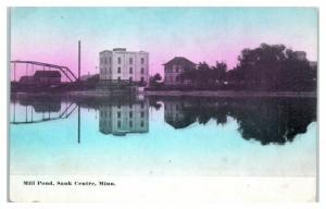Early 1900s Mill Pond, Sauk Centre, MN Postcard