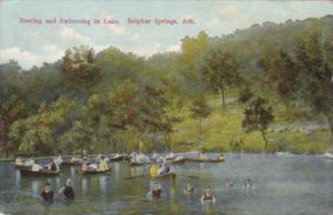 Arkansas Sulphur Springs Boating and Swimming In The Lake 1910