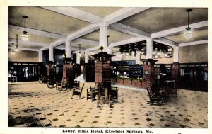 Excelsior Springs, Missouri - The Lobby of the Elms Hotel - in the 1920s