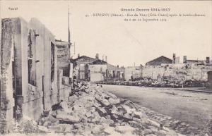 France Revugny Grande Guerre 11914-17 Rue de Vitry apres le bombardement