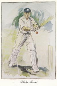 Charles Philip Mead Hampshire Cricket Artist Painting Victory History Postcard