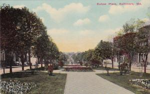 BALTIMORE, Maryland, 1910s; Eutaw Place