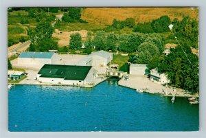 Hamilton IN- Indiana, Clark's Landing Marina, Aerial, Chrome Postcard