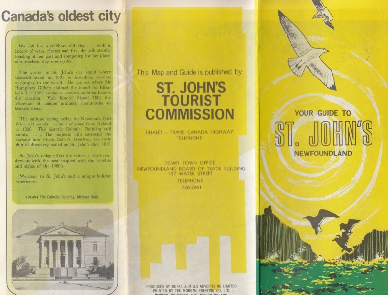 Guide to ST JOHN'S Newfound Land , Canada 1950s & Cottages insert