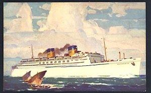 Matson Lines SS Matsonia 1938 Postcard