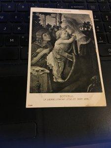 Vintage Postcard -  Botticelli - Madonna and Child with the little Saint John