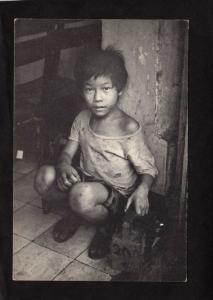 Saigon VietNam Shoeshine Boy Child Box Kit Viet Nam Postcard Carte Postale