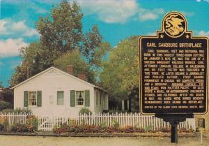 Birthplace Of Carl Sandburg Poet And Lincoln Biogrpher Galesburg Illinois