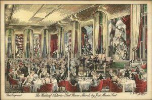 New York City Waldorf-Astoria Sert Room Murals c1915 Postcard