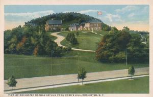 Orphan Asylum from Cobb's Hill on Pinnacle Hill, Rochester, New York - WB