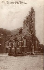 Belgium - Eglise d'Ans pres de Liege Bombardement World War 1 01.41