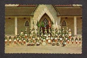 PQ QC Les Majorettes Band Baie Comeau Fonde Corps Quebec Postcard Carte Postale