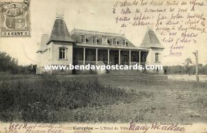 mauritius maurice, CUREPIPE, Hôtel de Ville, Town Hall (1904)
