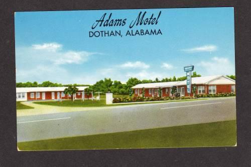 AL Adams Motel DOTHAN ALABAMA POSTCARD POST CARD PC