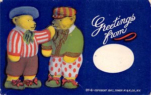 Bear Post Card Greetings from New York, USA Unused