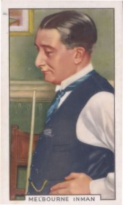 Melbourne Inman Snooker Pool Billiards Champion 1930s Cigarette Card