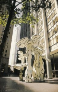 NEW YORK CITY , 1980 ; Chase Manhattan Plaza , Group of Four Trees Statue