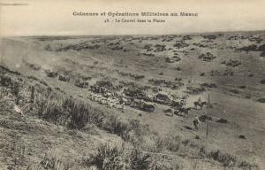 CPA Militaire Maroc Colonnes et Opérations Militaires - Le Convoi (92372)