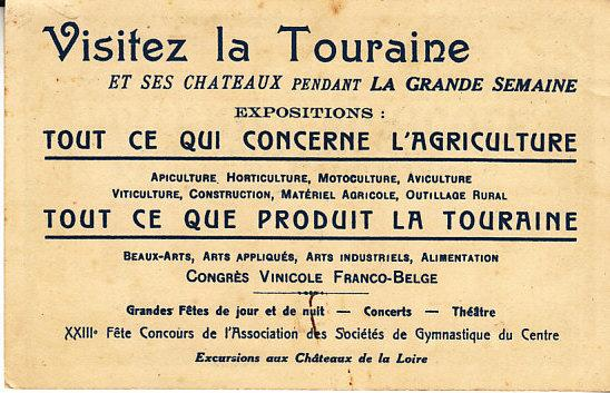 France - Tours Expo 1922 Card