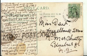 Genealogy Postcard - Dent - Hazelbank Terrace - Merchiston - Edinburgh Ref 9603A