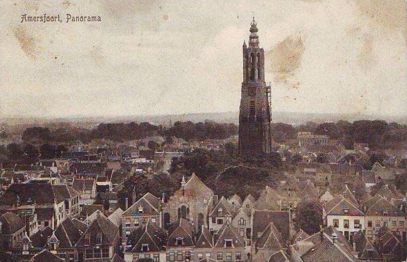 Z713 Netherlands Amersfoort Panorama circulated 1912
