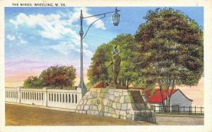 Wheeling West Virginia~Mingo Statue~Iroquois-Seneca-Cayuga Indians 1938