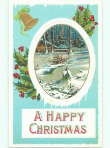Divided-Back CHRISTMAS SCENE Great Postcard AA0126