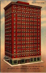 Illinois IL MacArthur Hotel St Louis Postcard Old Vintage PC POSTCARD UNPOSTED