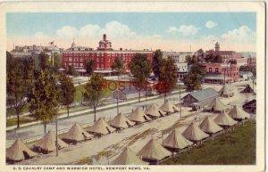 U. S. CAVALRY CAMP AND WARWICK HOTEL, NEWPORT NEWS, VA.